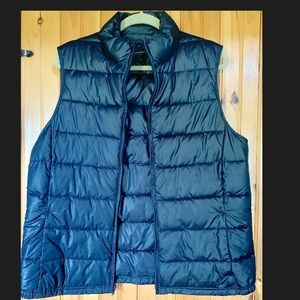 Banana Republic Navy Down Vest XL